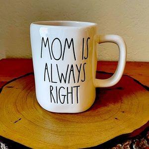 Rae Dunn Mom is Always Right Mug NWT